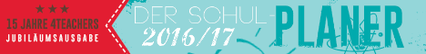 Der 4teachers Schulplaner 2016/17