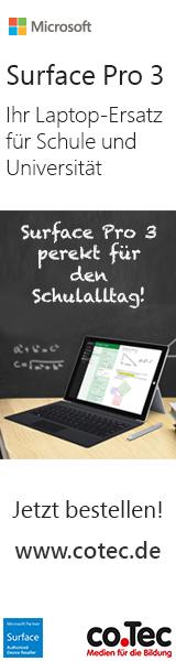 Microsoft Surface Pro 3 zum Education Preis